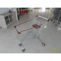 China Zinc Plating 125L Grocery Store Shopping Carts , Grocery Cart With Wheels on sale
