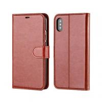 China Luxury Phone Case for iPhone x, Wallet Leather Mobile Cover on sale