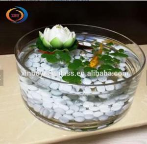 China Goldfish Tank Round Gallon Glass Fish Bowl / round shape indoor fish tank on sale
