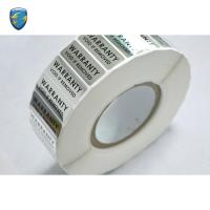 China Roll / Sheet Tamper Proof Tape , Tamper Evident Labels Warranty Void Sticker on sale