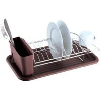 Buy cheap Item NO.DHW11019 Dish drying rack with plastic holder and tray for kitchen used for dish drying for cup from Wholesalers