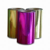 Quality Hot Stamping Foils for Paper, with 12 Micron Thickness, Various Colors and Sizes are Available for sale