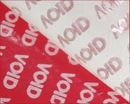 China Red VOID Tamper Evident Label Material Anti - Counterfeit Low Residue on sale