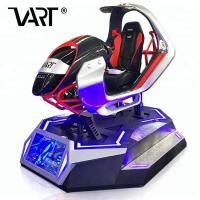 Quality Virtual Reality 5D / 7D / 9D Car Racing Simulator With Red or Blue Lighting for sale