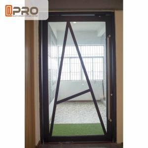 Floor Spring Aluminum Pivot Doors For Interior House Customized Size