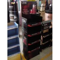 Quality Longlasting printing Corrugated cardboard Cosmetic Display Stands to promote products for sale