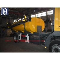 China 2017 New Howo7 10 Cbm Sewage Suction Truck 6x4 10tires For Sanitary Sewer Cleaning and rear lifting cover on sale