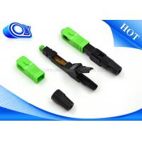 Buy FTTB FTTX FTTH Network Fiber Optic Fast Connector SC APC Insertion Loss 0.3dB at wholesale prices