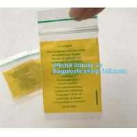 China Factory custom color small red / pink / green / yellow / blue resealable  bag for decorations, bagplastics, bageas on sale