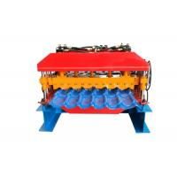 Quality Colorful Steel Profile Roll Forming Machine , Glazed Tile Machine For House Roofing Making for sale