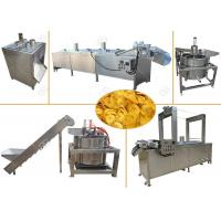 Quality Continuous Banana Chips Making Machine / Industrial Banana Chips Fryer Machine for sale