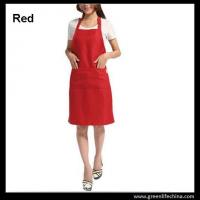 China Hot sale popular red color custom advertising apron for sales promotion cheap China price on sale
