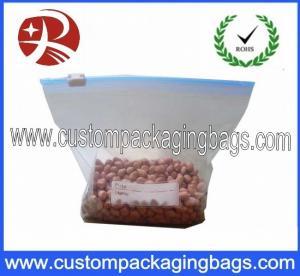 China Double Zipper Tracks LDPE Clear Plastic Food Packaging Bags Ziplock Freezer Bag on sale