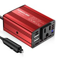 Quality Portable 150 Watt Red Color Auto Power Inverter With One Year Warranty for sale