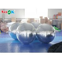 Quality Sliver Giant Inflatable  Balloon  Mirror Ball Commercial / Advertising Decoration for sale