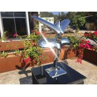 China Abstract Metal Animal Sculptures Modern Art Stainless Steel Flying Eagle on sale