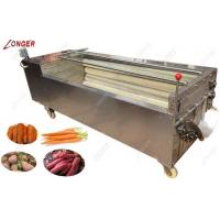 Quality Hot sale automatic efficient  fruit and vegetable washing and peeling machine for sale
