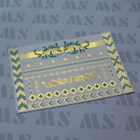 Buy cheap Gold and turquoise metallic tattoo from wholesalers