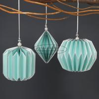Quality Light blue Origami Paper Lantern Ball , origami paper lampshade 47 X 27CM for sale