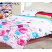 Quality Home Textile Floral Bedding Sets Reactive Printed Cotton With Quilt Cover for sale