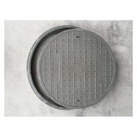China D500-1 Round composite manhole covers 500*30mm anti-corrosion drain covers with manhole frame on sale