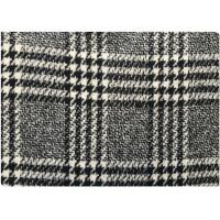 Winter Warmth Herringbone Tartan Wool Fabric White And Black 550 Gram Per Meter 90 S / N