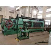 Buy cheap High Efficiency Gabion Wire Mesh MachineGreen Color With Automatic Oil System from wholesalers