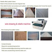 Quality wood wire brush machine for sale
