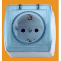 Quality ABS material EU Balck Schuko Socket Outlet with Cover for Spain(S8510) for sale