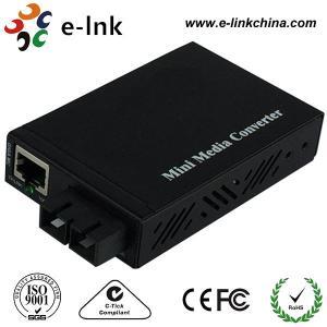 Quality SC Gigabit Fiber Optic Ethernet Media Converter For IP Cameras Multi Mode for sale