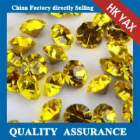 Quality Various Sizes Point Back Glass Stone ,Stone Glass Back Pointed,China Cheap Glass Stones For Sale for sale
