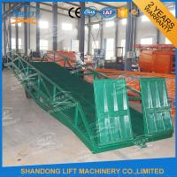 Quality Adjustable Warehouse Container Loading Ramps , Electric Container Yard Ramp for sale