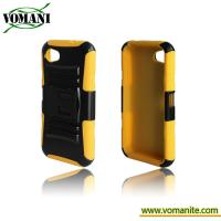 Quality PC + silicone case for HTC one/first M7, with durable stand for sale