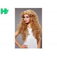 Buy cheap Heat Resistant Long Curly Synthetic Wigs No Lace Dark Blonde For White Women from wholesalers