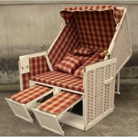 Quality Contemporary Leisure Wood And Resin Wicker Roofed Beach Chair & Strandkorb for sale