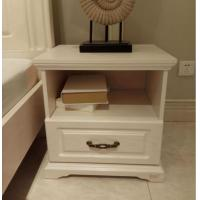Quality White Bedside Table Contemporary Bedroom Furniture / European Design Furniture for sale