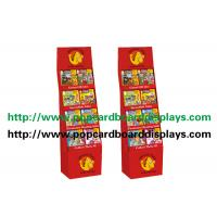 Quality Recycled Paper Display Stands With Glossy Varnish For Magazine with red color for sale