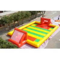 Quality Amazing Sport Game Inflatable Football Field , Colorful PVC Inflatable Football Game Field for sale