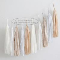 Quality Graceful Polychrome Paper Tassel Garland Wedding Party Garland for sale