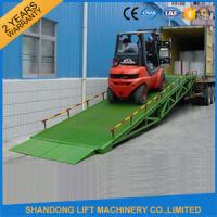 Quality Mobile Hydraulic Adjustable Container Loading Ramps with 0.9m - 1.8m Lifting Height for sale
