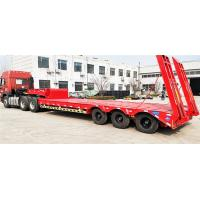 Quality Steel Material 60T -70T Heavy Duty Semi Trailers Low Bed 3 Axles 12R22.5 / 12R20 Tire for sale