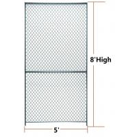 Wire Parion Panel | Security Woven Wire Mesh Partition Panels 10 Gauge Clinched 8 Feet