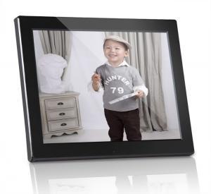Quality Plastic 12 inch Digital Photo Frames Motion Sensor With Calendar / Clock for sale