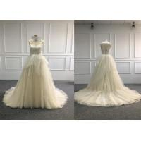 Quality European Multi Colored Wedding Dress / Elegantly Lace Colored Wedding Dresses for sale