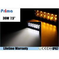 Quality 36W Remote Control LED Light Bar , Double Row Amber White Led Offroad Light Bar for sale