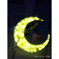 Quality ramadan star and moon with led light for ramadan decoration for sale