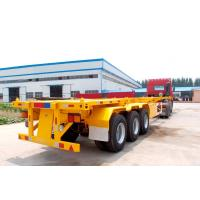 China Container Delivery Chassis Trailers 40 Ft Container Semi Trailer TITAN on sale