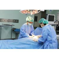 Quality 40gsm Reinforced  Disposable Surgical Gown / Disposable Dressing Gowns for sale