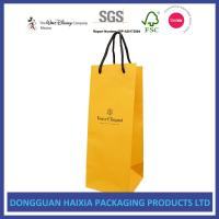 Quality Custom Logo Printing Kraft Paper Shopping Bags Soft Packaging For Red Wine for sale