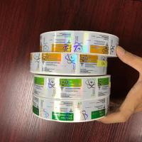China Pharmaceutical 10ml Vial Labels Hologram Laser Roll Labels Stickers Glossy Finish on sale